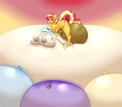 2018 absurd_res anthro areola balls belly big_balls big_belly big_breasts blues64 blush breasts coco_pommel_(mlp) cum cum_from_mouth cum_in_mouth cum_inside cum_through cutie_mark dickgirl dickgirl/female digital_media_(artwork) duo equestria_girls equine excessive_cum female friendship_is_magic hair hi_res horn huge_balls huge_breasts hyper hyper_balls hyper_belly hyper_breasts hyper_penis inflation inflation intersex intersex/female male mammal multicolored_hair my_little_pony nipples nude penis rule_63 sex stunnerpony sunset_shimmer_(eg) two_tone_hair unicorn vein