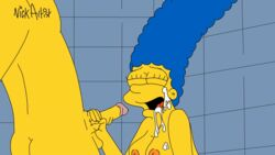 animated bart_simpson cum_in_mouth cum_on_face facesitting incest marge_simpson milf mother_and_son nickartist oral shower shower_sex the_simpsons