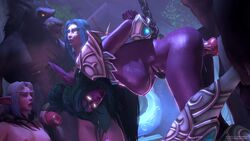 2boys 3d 3girls ambrosine92 animated bdsm blizzard_entertainment blue_hair bondage breasts canine_penis chains darnassus domination elf elyrasia female glowing_eyes green_hair handjob hands_behind_back humanoid kalimdor kalypsofx knot large_breasts large_penis long_hair night_elf nipples orgy penetration sex sound source_filmmaker standing_doggy_style straight submissive submissive_female sweat teldrassil tyrande_whisperwind warcraft webm werewolf white_hair wolf worgen world_of_warcraft zoophilia