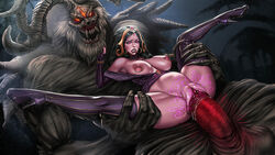 1monster big_dom_small_sub breasts curved_horns demon evil_eyes evil_grin female horror huge_cock huge_monster interspecies kothoped large_breasts large_insertion large_penis liliana_vess magic_the_gathering mikiron monster nipple_rings oversplit penis pussy rape ridged_horns ruined_pussy scary size_difference spread_legs stomach_bulge stretched_pussy thigh_highs vagina vaginal_penetration