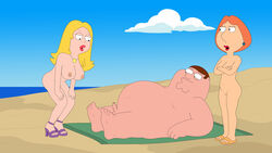 american_dad family_guy francine_smith lois_griffin peter_griffin