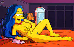 blue_hair darkmatter marge_simpson nude playboy pubic_hair softcore solo the_simpsons