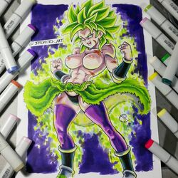 broly dragon_ball dragon_ball_super green_hair jpcortes rule_63
