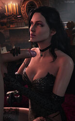 3d bomyman breasts cfnm cleavage erection female male penis source_filmmaker straight testicles the_witcher yennefer