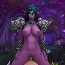 arti202 big_ass big_breasts blender blizzard_entertainment heroes_of_the_storm tagme tyrande_whisperwind warcraft world_of_warcraft