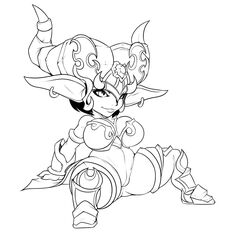 2017 armor big_breasts breasts chromie ear_piercing female gnome hair humanoid lewdreaper monochrome not_furry piercing pussy short_hair short_stack sitting smile solo spread_legs spreading video_games warcraft