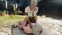 3d animated ciri cowgirl_position female geralt_of_rivia male music niodreth outdoors sex sound tagme the_witcher the_witcher_3 webm