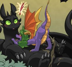 conditional_dnp digital_media_(artwork) female golden_shower grumpyvulpix how_to_train_your_dragon male peeing penis spyro spyro_the_dragon toothless urine video_games watersports