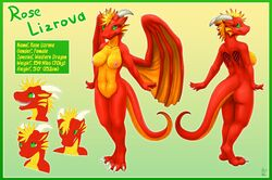 4_toes angry anthro ass belly_scales border breasts claws countershading digital_media_(artwork) digitigrade dragon female frill green_background green_eyes hi_res hindpaw horn membranous_wings model_sheet navel nipples nude orange_countershading orange_membrane paws pussy red_skin rose_lizrova scales scalie simple_background slit_pupils solo teeth toe_claws toes vader-san wings yellow_countershading yellow_membrane