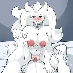 2018 anthro anthrofied blue_eyes blush breasts cowgirl_position digital_media_(artwork) dragon duo erection female first_person_view fur hair hand_holding legendary_pokémon male male/female nightfaux nintendo nipples nude on_top open_mouth penetration penis pokémon_(species) pokemon pussy reshiram sex simple_background smile sweat tongue vaginal_penetration vaginal_penetration video_games white_fur