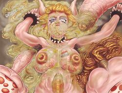 1futa 3boys areolae armpit_hair blonde_hair blue_eyeliner body_fluids body_writing bowsette breasts bumpy_penis dazed defeated erect_nipples eyeliner foreskin futanari huge_breasts huge_penis laying_down male male_on_futa male_with_male nintendo nipples nude odor open_mouth pale_skin penis puffy_nipples qwerty808 runny_makeup scat semi-erect smell spiked_bracelet spiked_collar thick_penis three_on_one toad_(mario) veiny_penis vomit vomit_on_cock