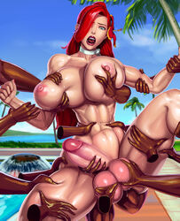 abs aka6 amazon ball_fondling barefoot fisting futanari huge_balls huge_breasts huge_cock league_of_legends milf miss_fortune multiple_boys muscular muscular_female muscular_futanari red_hair sweat tagme thick_thighs toned wet