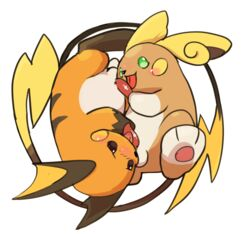2016 2boys 69_position alolan_raichu ass belly big_belly big_ears blush blush_stickers brown_eyes brown_fur circle digital_media_(artwork) duo erection feet fellatio feral feral_on_feral full-length_portrait gay green_eyes licking long_tail male male_only mammal manmosu_marimo nintendo nude open_mouth oral orange_fur paws penis pokémon_(species) pokemon pokemon_rgby pokemon_sm portrait raichu rodent shortstack side_view simple_background smile tail tapering_penis testicles tongue tongue_out video_games white_background white_fur yaoi yellow_fur yin_yang