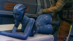 3d animated areolae asari ass balls breasts darktronicksfm erection female from_behind liara_t'soni male mass_effect nipples no_sound nude penis sex source_filmmaker straight testicles webm