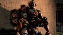 1boy 1girl 3d ada_(fallout) animated anus armor ass assaultron brown_hair chair erection fallout_4 female hand_on_ass holding human leg_grab machine male on_top penis penis_out power_armor pussy robot short_hair sitting source_filmmaker source_request spread_legs standing straight sunglasses testicles vaginal_sex webm zensintemple