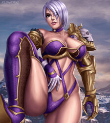 big_breasts breasts cleavage female female_only flowerxl isabella_valentine large_breasts looking_at_viewer solo soul_calibur