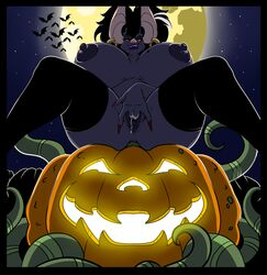 anal anal_sex anthro areola ass bat beauty_mark big_breasts big_butt black_hair breasts clothed clothing colored_nails ear_piercing erect_nipples female feral food fruit full_moon grin group hair half-closed_eyes huge_breasts jack-o'-lantern legwear lipstick looking_at_viewer lordstevie low-angle_view makeup mammal masturbation mature_female moon mostly_nude multicolored_hair nipples penetration piercing pumpkin pussy pussy_juice red_eyes sitting sky smile solo_focus spread_legs spreading stockings thick_thighs thigh_highs two_tone_hair vaginal_masturbation vaginal_penetration vaginal_penetration white_hair worm's-eye_view