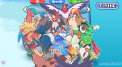 10boys after_sex ahe_gao alternate_color archeops avian beak bird blue_background bukkake clothed clothed_sex clothing cum cum_in_ass cum_in_mouth cum_inside cum_on_face cum_on_stomach decidueye gangbang gay group group_sex hi_res honchkrow hud interspecies kecleon lee_the_kec male male_only nintendo noctowl nude orgy original_character owl penis pidgeot pokémon_(species) pokemon pokemon_bw pokemon_dppt pokemon_gsc pokemon_rgby pokemon_rse pokemon_sm puggy scalie sex shirt staraptor swellow talons tapering_penis text tongue toucannon unfezant url video_games watermark wings xatu yaoi