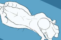 2018 bird's-eye_view blue_background faceless_male from_behind from_behind_position ghost humanoid jiggle legs_up male/female mila_(spikedmauler) on_front sex simple_background spikedmauler spirit