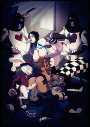 alice_liddell alice_madness_returns american_mcgee's_alice card_guard mad_hatter male penis tabrin tagme white_rabbit