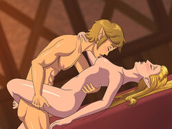 abs barefoot blonde_hair breasts closed_eyes couple duo feet female hair holding hylian legs licking link long_hair male mattie_v missionary_position muscular muscular_male nintendo nipple_licking nipples nude penetration pointy_ears princess princess_zelda romantic_couple sex skyward_sword small_breasts straight the_legend_of_zelda thighs video_game