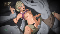 breasts clothed clothing clothing_lift female forced freako group group_sex gun human human_on_humanoid humanoid lying male mammal missionary_position not_furry on_back penetration penis pussy ranged_weapon rape restrained sex shirt shirt_lift small_breasts spread_legs spreading straight threesome torn_clothing undead vaginal_penetration weapon zombie