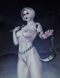 absurdres areolae breasts female female_only highres isabella_valentine krysdecker looking_at_viewer nipples nude pubic_hair pussy solo soul_calibur