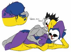 anal clown_makeup grey_fur hb-viper jester_outfit slendytubbies straight