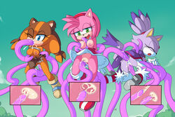 3girls alternate_version_at_source amy_rose anal anthro ayb aybr badger blaze_the_cat blue_eyes blush boots bound breast_sucking breasts brown_fur brown_hair clitoris closed_eyes clothed clothing cloud cum cum_in_ass cum_in_mouth cum_in_pussy cum_in_uterus cum_inside double_penetration dress eyelashes feline fellatio female female_only footwear forced fur gloves green_eyes group hairband half-closed_eyes hedgehog internal jungle_badger lactating lactation legwear lifted mammal medium_breasts milk multiple_females multiple_girls nipples one_eye_closed open_mouth oral orange_fur outside penetration pink_fur pink_hair plant purple_fur pussy rape sega sex shrub skirt sonic_(series) sonic_boom sticks_the_jungle_badger stockings sucking suspension tears tentacle tentacle_sex tongue tongue_out topless upskirt uterus vaginal_penetration x-ray