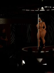 3d big_ass big_breasts lily_lovecock naked nun stripper_pole thefoxxx thick