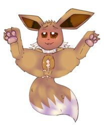1girl 3_toes after_sex bedroom_eyes blush brown_eyes brown_fur brown_nose canine chest_tuft clitoris cum cum_drip cum_in_pussy cum_inside cum_on_anus cum_on_tail dipstick_tail dripping eevee female female_only feral fluffy fluffy_tail fur furrc0zy furry half-closed_eyes long_ears looking_at_viewer mammal multicolored_tail nintendo paws pokémon_(species) pokemon pokemon_rgby pussy seductive solo spread_legs spreading straight text toes tongue tuft video_games watermark white_fur