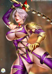 big_breasts breasts cleavage didi_esmeralda female female_only isabella_valentine large_breasts looking_at_viewer pinup solo soul_calibur