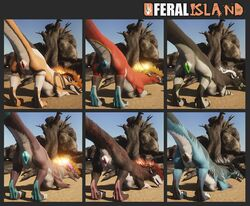 3d 3d_(artwork) anatomically_correct anatomically_correct_pussy animal_genitalia animal_pussy anus aroused canine_pussy claws cureld_tail curved_tail darius digital_media_(artwork) faunoiphilia felkin female feral from_behind_position fur gwyardon heat_(disambiguation) horn invalid_tag kostroma monty mr2cats paws presenting pussy rainbow raised_tail sex veskin