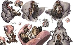 anthro balls cum duo erection forked_tongue frottage geb hugjob hyena licking lizard macro male male_pred male_prey mammal mawplay melthecannibal nude open_mouth paws penis precum reptile scalie sex size_difference sketch_page toes tongue tongue_out vore