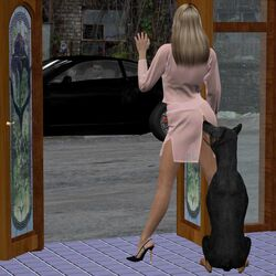 3d ass canine cheating dobermann husband_and_wife long_hair open_legs zoophilia zoophilia