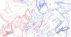 cum cum_in_mouth furry_only gay hand_on_head mephiles_the_dark no_humans oral shadow_the_hedgehog soina sonic_(series) yaoi