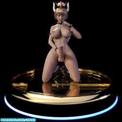3d animated armlet ass blonde_hair boots bowsette bracelet breasts choker cock_ring collar earrings erection futanari horns kneeling large_breasts large_penis masturbation nintendo nipples no_sound nude penis ponytail solo solo_futa spiked_armlet spiked_bracelet spiked_collar squarepeg3d super_mario_bros. testicles turntable turtle_shell webm