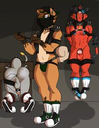 2018 3boys anthro anus ass blindfold bondage bound canine clothing dragon feline footwear furry gay_domination group group_sex hakamo-o jake_(fuze) leather legwear lucas_(fuze) male maledom malesub mammal multiple_boys multiple_subs nintendo nude original_character penis pokémon_(species) pokemon pokemon_sm presenting ricky_(fuze) rockruff scalie sex_toy shoes socks sylvanedadeer threesome torracat vibrator video_games yaoi