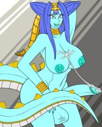 after_masturbation balls belly big_breasts big_penis blue_hair blue_skin bracelet breasts canastus cum cum_on_breasts dickgirl dragon dragon_ball dragon_ball_gt ear_piercing hair humanoid intersex jewelry lipstick long_hair long_tail looking_at_viewer makeup monster_girl_(genre) navel nipples nude oceanus_shenron penis piercing pinup pose simple_background simple_coloring smile solo spikes villainous wide_hips