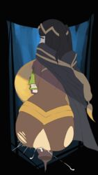 animated anus ass balls bent_over big_ass black_hair book cape cloak clothed_female_nude_male crotch_cutout cum cum_in_pussy cum_inside dangling_testicles dashxeroero duo endless_cum faceless_male female fire_emblem from_behind_position hairless_pussy huge_cock human long_hair long_penis male male_pov nintendo penis pov pussy solo_focus standing_sex straight table tharja torn_clothes