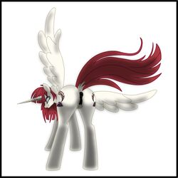 alicorn anatomically_correct anatomically_correct_pussy animal_genitalia animal_pussy anus ass cutie_mark dock edit equine equine_pussy fausticorn feathered_wings feathers female feral hair horn lauren_faust looking_back mammal my_little_pony ponison puffy_anus pussy rape_face red_hair simple_background solo white_background wings