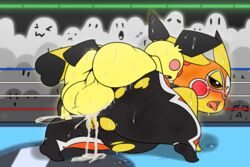 1boy 1girl ahe_gao anal anal_sex ass audience big_balls black_fur blush clothed clothed_sex clothing cosplay_pikachu cum cum_in_ass cum_inside ejaculation female fur furry group huge_balls inflation interspecies larger_female male male_penetrating mammal mouse multicolored_fur nintendo open_mouth orgasm penetration perching_position pichu pikachu pikachu_libre pokémon_(species) pokemon public puffdraws pussy_ejaculation pussy_juice rodent sex size_difference super_smash_bros. sweat testicles tongue tongue_out torn_clothing video_games yellow_fur