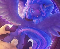 absurd_res alicorn anal anal_sex anus cum cum_inside cutie_mark dimwitdog dock duo equine female feral first_person_view forced friendship_is_magic hand_on_butt hi_res horn human human_on_feral interspecies male male/female male_on_feral male_penetrating mammal my_little_pony penetration penetrative_pov penis princess_luna_(mlp) puffy_anus rape sex solo_focus tears unwanted_cumshot wings zoophilia