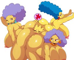 <3 1boy 3girls areolae ass ass_to_ass aunt aunt_and_nephew bart_simpson bent_over big_areola big_ass big_hair blue_hair breasts closed_eyes ear_piercing facesitting female group hanging_breasts huge_ass huge_breasts human incest jewelry large_breasts looking_back male mammal marge_simpson mature_female mother mother_and_son multiple_girls necklace nephew nipples nude one_eye_closed open_mouth overweight overweight_female parent patty_bouvier piercing puffy_nipples purple_hair selma_bouvier sibling simple_background sisters smile smirk son sssonic2 straight the_simpsons voluptuous white_background wide_hips wink yellow_skin