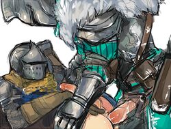 armor clothed clothed_sex dark_souls gay knight male/male penetration yaoi