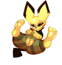 1girl 2019 3_fingers 4_toes alpha_channel anus ass belly big_ass big_ears black_fur brown_eyes chubby digital_media_(artwork) eyelashes feet female female_only fishnet fishnets flat_chest fur furry half-closed_eyes legs_up looking_at_viewer mammal navel nintendo nude pantyhose paws pichu pokémon_(species) pokemon pokemon_gsc presenting presenting_pussy pussy rodent sapple_(artist) simple_background smile soles solo source_request spread_legs tail thick_thighs toes topless torn_clothes transparent_background video_games wide_hips yellow_fur