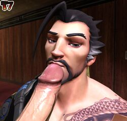 3d big_penis gay hanzo male male_only overwatch penis penis_lick penis_on_face penis_on_lips t7fakes tagme teasing