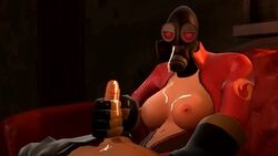 animated breasts couch cum cum_on_breasts cum_on_face cum_on_hand cum_on_penis fempyro gas_mask handjob penis pyro rule_63 scout sound source_filmmaker tagme team_fortress_2 uninterested valve webm