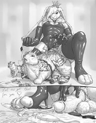 absorption_vore anthro balls basil_(aristocrats) cum elbow_gloves girly high_heel_boots high_heels penis penis_transformation rabbit shadowfenris size_difference thighhighs transformation vore