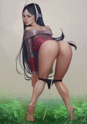 ass female female_only irelia league_of_legends luccass peeing pussy solo urine urine